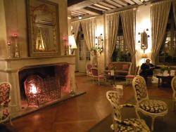 A cozy fire each evening in the sitting room