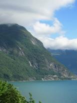 Road along Storfjord, waterfall (129334476)