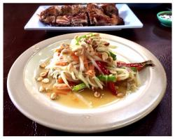 Ruam Jai Gai Yang - Som Tum (Grilled Chicken & Papaya Salad)