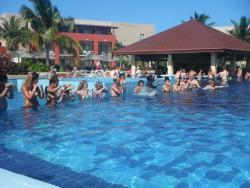 Afternoon pool aerobics