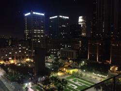 The view is beautiful. Looks over Pershing square in DTLA