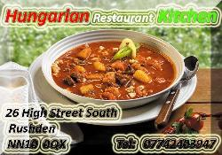 Hungarian Restaurant Kitchen Rushden
