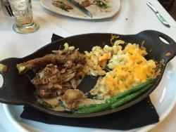 One of my favorite meals ever- the fried guinea hen, truffled macaroni and cheese and green bean