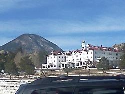 Driving up to the Stanley