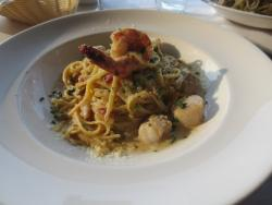 Seafood linguine carbonara - good but a bit bland