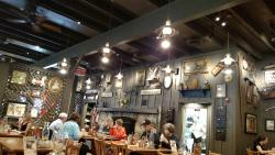 Meal and the decor of Cracker Barrel