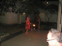 Fire limbo dancers