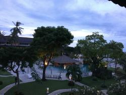 This beautiful photo was taken from the balcony of our room.
