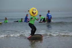 Surfing med padleåre