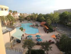 Pool deck view from room