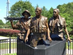 Three Servicemen Statue
