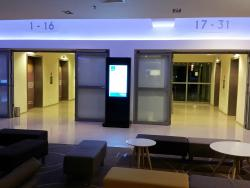 Elevators at the ground level