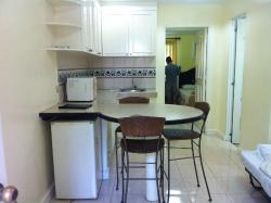 The dining area with Ref and Microwave