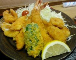 魚介類のフライ定食