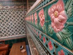 many tiles with a unique bulge in the interior