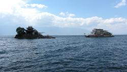 L'arrivo del traghetto a Little Putuo