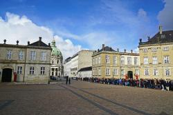 Changing of her Majesty's guard at Amalienborg Castle