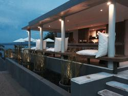 Bar area next to pool