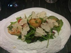 Salade de saint Jacques aux truffes et parmesan