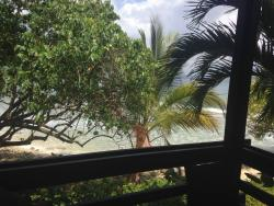 view from our screen porch.. listening to surf