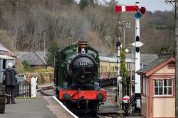 3205 enters Staverton Station from Totnes during our Half Price weekend in March 2015.
