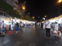 Night market near the Christina's