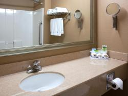 Our standard bathrooms are clean and well lit!