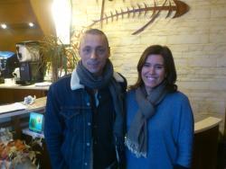 Alex Britti con noi al ristorante. Grande Alex!