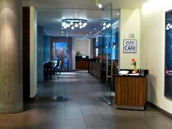 Entrance to the City Cafe on Ground floor.