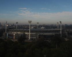 Morning view of the MCG