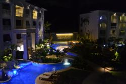 Picture from our room of swim up rooms