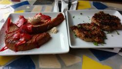 Strawberry french toast and chicken sausage