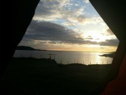 Evening view from the tent