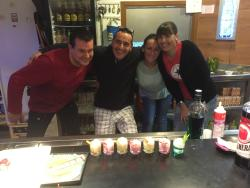 The friendly bar and restaurant staff