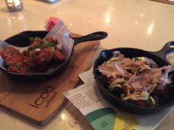 Korean Style Chicken Wings and Takoyaki