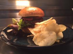 Lamb & chorizo burger