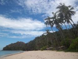 The private beach.