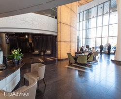 Lobby at the Kempinski Hotel Corvinus Budapest