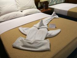 hammerhead shark deco on bed