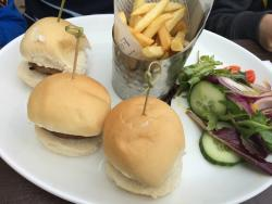 Trio of burgers (from the specials board)