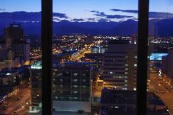 View of downtown Anchorage and Chugach Range