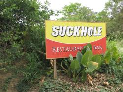 Restaurant SIgn off the Main Road