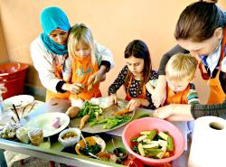 Amal Women's Training Center Cooking Class