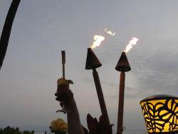 Lighting the torches.
