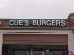 Cue's Burgers and More