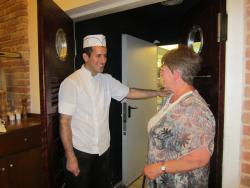 Tammy wanted to thank the chef for the excellent meal.