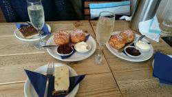 Prosecco cream tea with a side order of cakes!