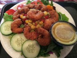 Hawaiian shrimp salad - really tasty and huge portion size.