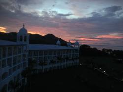 sunset from the room