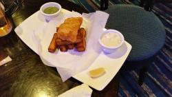 Small fish and lemon slice